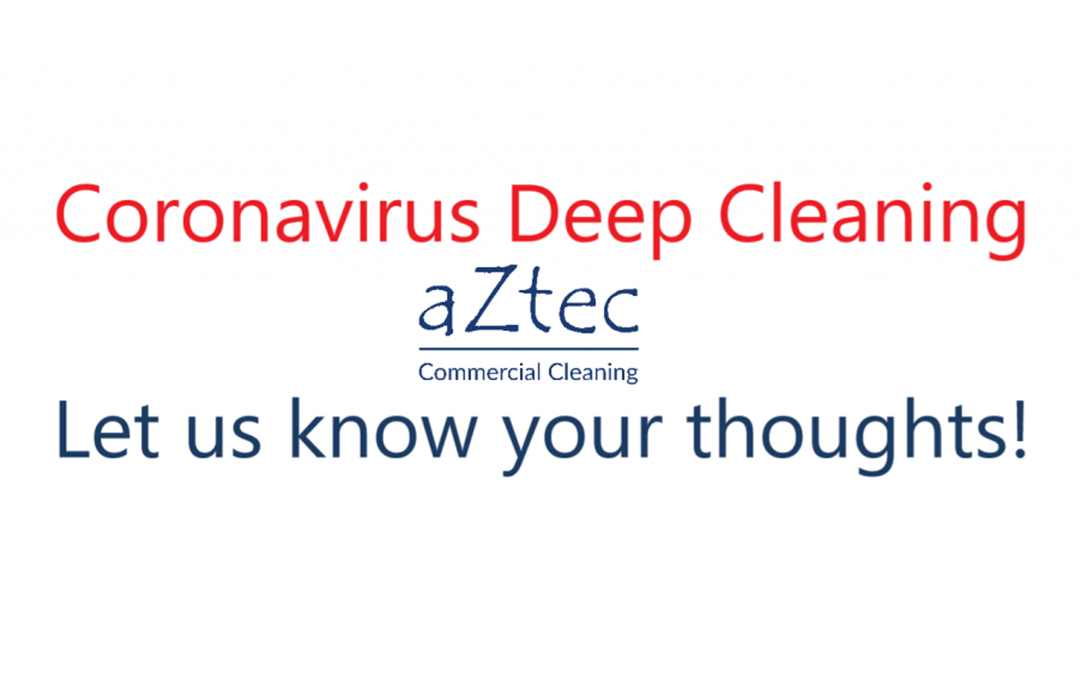 Coronavirus - Deep Cleaning