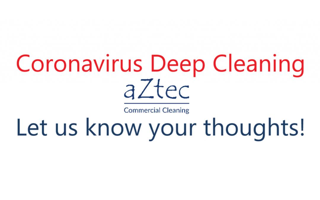 Coronavirus - Deep Cleaning