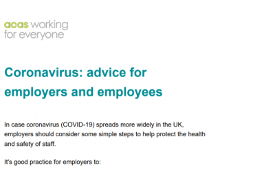 ACAS: Coronavirus advice for employers and employees