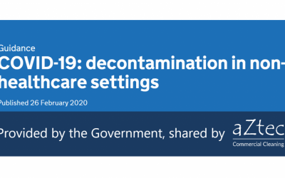Government advice for decontamination in non-healthcare settings