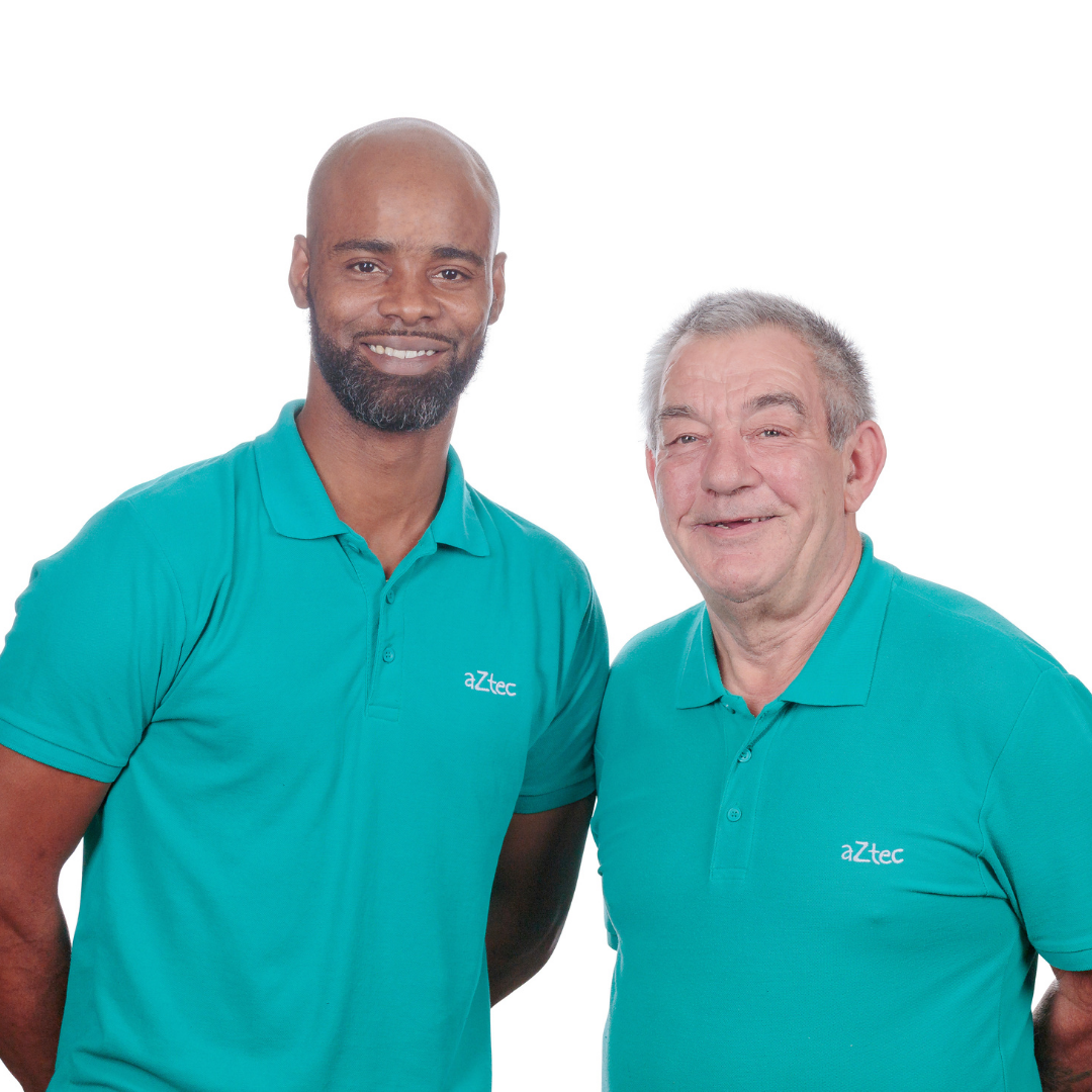 male commercial cleaners at aztec