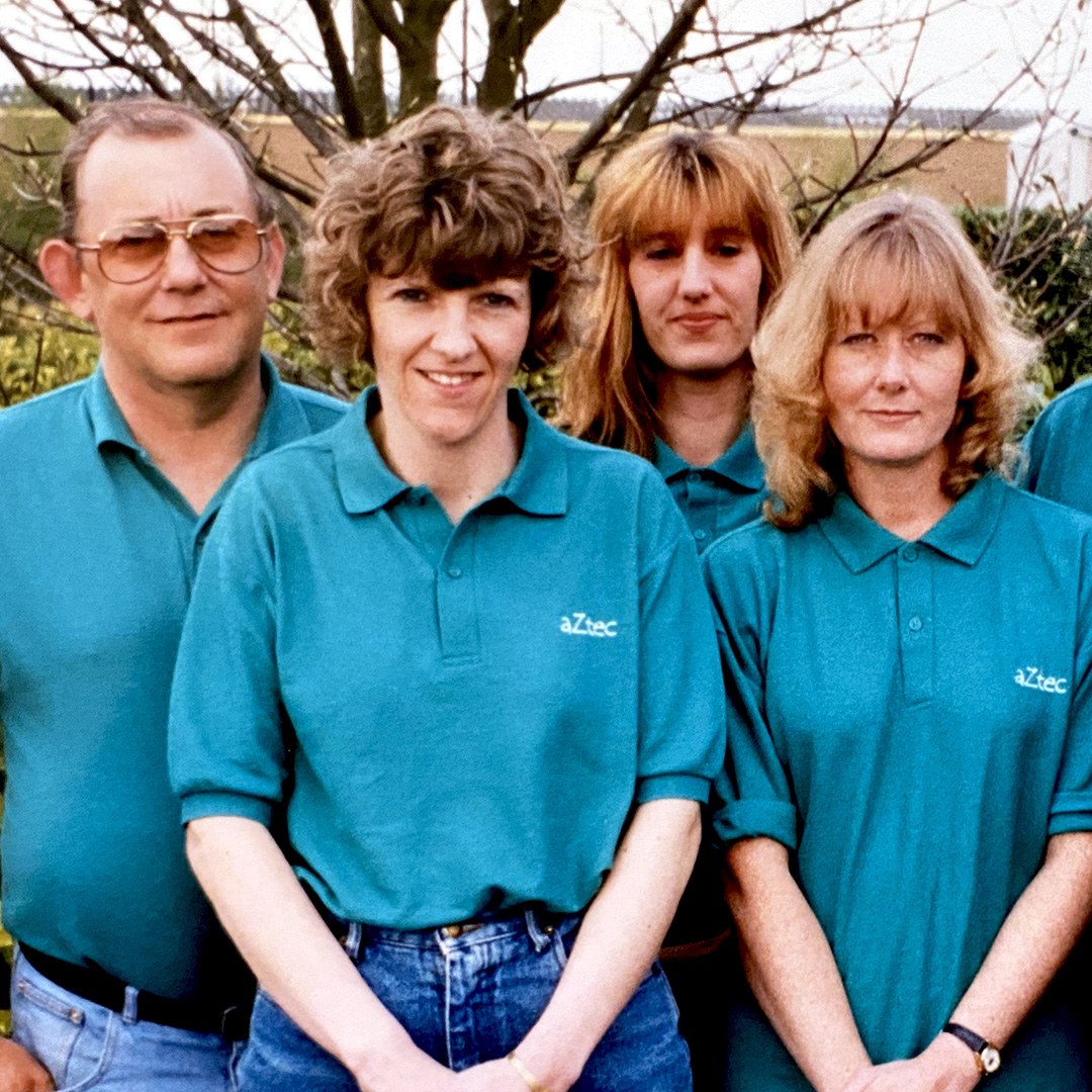 throwback aztec cleaning staff image